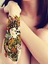 1-Series bijoux / Series de fleur / Series de totem / Autres-Vert-Motif-22*15cm- enPaillettes-Tatouages Autocollants-BR-Bebe / Enfant /