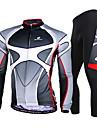 NUCKILY® Maillot et Cuissard Long de Cyclisme Homme Manches longues VeloRespirable / Sechage rapide / Pare-vent / Resistant aux
