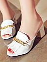 Chaussures Femme-Exterieure / Habille / Decontracte-Noir / Rouge / Blanc-Gros Talon-Talons / Bout Ouvert-Sandales / Talons / Sabots &