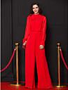 Coloană / Teacă Gât Înalt Lungime Podea Șifon Bal Seară Formală Rochie cu Arc de TS Couture®
