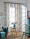 Deux Panneaux Rustique Floral / Botanique Comme image Chambre a coucher Metisse Lin et Polyester Rideaux occultants rideaux