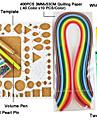 400pcs Quilling papper diy konsthantverk dekoration kit / 7st set