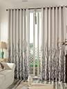 Deux Panneaux Le traitement de fenetre Moderne Chambre a coucher Melange Lin/Coton Materiel Rideaux Tentures Decoration d\'interieur For