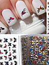 24 Autocollant d\'art de clou Autocollants 3D pour ongles Adorable Maquillage cosmetique Nail Art Design