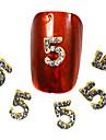 Tecknat / Vackert-Finger / Tå-Nagelsmycken- avMetall / Andra-10PCS- styck3-6mm- cm