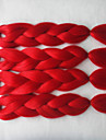 Rouge Box Tresses Jumbo Extensions de cheveux 24inch Kanekalon 3 Brin 80-100g/pcs gramme Braids Hair