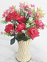 Une succursale Soie Plastique Orchidees Roses Fleur de Table Fleurs artificielles 12