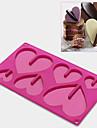 Moule de Cuisson Coeur Pour Gateau For Chocolate Pour Bonbons Silikon Ecologique Haute qualite Action de graces