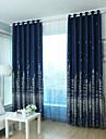 Två paneler Fönster Behandling Modern , Tecknat Sovrum Polyester Material Mörkläggning Gardiner draperier Hem-dekoration For Fönster