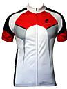 JESOCYCLING® Cykeltröja Herr Kort ärm CykelAndningsfunktion / Snabb tork / Ultraviolet Resistant / Dragkedja fram / Antistatisk /