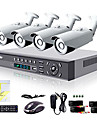Liview® 8CH HDMI 960H Network DVR 4X 700TVL Outdoor Day/Night Security Camera System