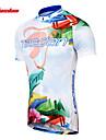 TASDAN Maillot de Cyclisme Homme Manches courtes Velo Respirable Sechage rapide Anti-transpirationMaillot Maillot +