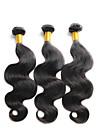 """1 pcs / lot 8 """"-30"""" vierges trames bresiliennes de cheveux de vague de corps naturels noirs 1b # bundles de cheveux humains"""