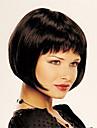 nouvelle sans bonnet court bob synthetique de haute qualite brun fonce perruque de cheveux raides