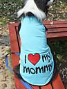 Pisici / Câini Tricou Portocaliu / Albastru / Roz / Gri Îmbrăcăminte Câini Vara / Primăvara/toamnă Literă & Număr Modă