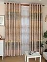 Två paneler Modern Vinranka Enligt bilden Living Room Polyester Blackout Gardiner draperier