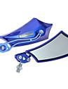 2xmotorrad sidospegel motorradspiegel lenkerspiegel 10mm 8mm blå spegel