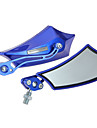 2xmotorrad cote miroir motorradspiegel lenkerspiegel 10mm 8mm bleu miroir