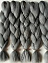 Grey Gradient Box Braids Jättelik Hårförlängningar 24inch Kanekalon 3 Strå 80-100g/pcs gram Hair Braids