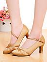 SUN LISA Customizable Women\'s Dance Shoes Latin / Modern / Salsa Satin Customized Heel Black / Brown / Other