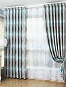 Två paneler Modern Rand Enligt bilden Living Room Polyester Blackout Gardiner draperier