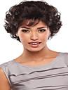 populära europeiska dam naturliga färg kort lockig syntetisk peruk