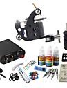 basekey tattoo kit jh556 en maskin med grepp 3x10 ml bläck nätaggregat