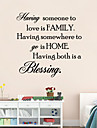 avoir quelqu\'un a aimer est citation familiale sticker mural mur maison Bessing decalcomanies