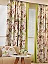 Två paneler Rustik / Modern / Nyklassisistisk / Medelhavet / Europeisk Blommig/Botanisk / Nyhet / Tecknat Beige / Blå / Röd / Kaffe