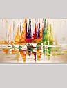 handmålade tjock färg segling abstrakta landskap modern på duk en panel redo att hänga