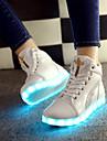 kvinnor ledde skor USB-laddningsläder mode sneakers utomhus / atletisk / tillfällig svart / vit