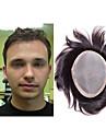 perruque de cheveux humains style de cheveux sans systeme de moumoute fine mono de 7x9 hommes pour les hommes