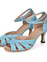 Chaussures de danse(Bleu Vert Violet Gris) -Personnalisables-Talon Bobine-Paillette Brillante-Latine