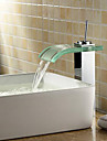 Contemporain Vasque Cascade with  Valve en ceramique Mitigeur un trou for  Chrome , Robinet lavabo