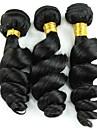 3pcs / lot 150g 8-26inch peruanska jungfru hår lös våg svart färg rå människohår väver partihandeln.