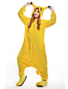 kigurumi Pyjamas New Cosplay® / Pika Pika Collant/Combinaison Fete / Celebration Pyjamas Animale Halloween Jaune Mosaique Polaire Kigurumi