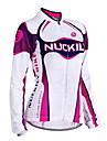 NUCKILY® Veste de Cyclisme Femme Manches longues VeloEtanche Respirable Garder au chaud Pare-vent Design Anatomique Doublure Polaire