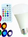 9W E26/E27 Bulb LED Glob A60(A19) 3 LED Putere Mare 550 lm RGB Reglabil / Activare-Sunet / Telecomandă / Decorativ AC 100-240 V 1 bc