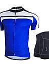 NUCKILY® Maillot et Cuissard de Cyclisme Homme Manches courtes VeloRespirable Pare-vent Design Anatomique Permeabilite a l\'humidite Zip