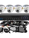 yanse® 4ch DVR Kit ir camera dome couleur systeme de cameras de securite CCTV 960H 1000tvl 701cf04