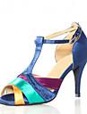Chaussures de danse(Multicolore) -Personnalisables-Talon Personnalise-Satin-Latine Salsa