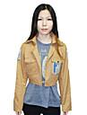Inspirerad av Attack on Titan Cosplay Animé Cosplay Kostymer/Dräkter cosplay Suits Tryck Brun Kappa