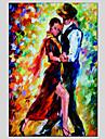 HANDMÅLAD MänniskorModerna / Klassisk / Traditionellt / Parfymerad / Europeisk Stil En panel Kanvas Hang målad oljemålning For