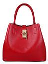 Femme Polyurethane Formel / Decontracte / Bureau & Travail / Shopping Sac a Bandouliere / Cabas / Cartable Rouge / Gris / Noir