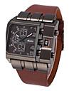 Bărbați Ceas Militar Ceas de Mână Quartz Mare Dial Piele Bandă Cool Negru Albastru Roșu Maro