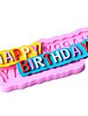 grattis på födelsedagen formade fondant tårta choklad silikon mögel, dekoration verktyg bakeware