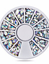 1wheel Oval AB Rhinestones 3d Nail Art Decorations