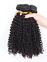 3pcs / lot bresilien cheveux boucles vierge non traitee bresilien crepus cheveux boucles bresilienne vierge profonde cheveu humain boucles