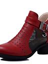 Chaussures de danse(Noir / Rouge / Blanc) -Non Personnalisables-Talon Cubain-Cuir-Baskets de Danse / Moderne