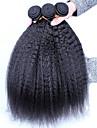 """3st lot 10-26 """"obearbetade rå peruanska jungfru människohår väva kniky rakt färg naturligt svart hår buntar"""